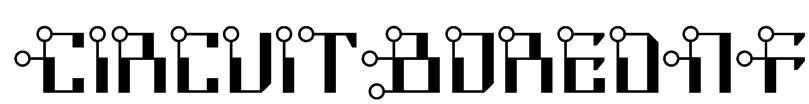 CircuitBoredNF Font