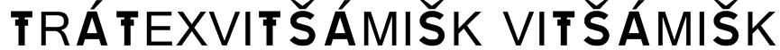 TRATEXVITSAMISK VITSAMISK Font