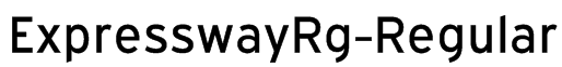 ExpresswayRg-Regular Font