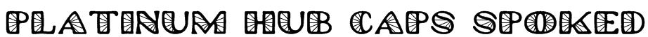 Platinum Hub Caps Spoked Font