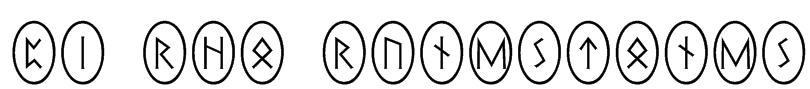 Pi Rho Runestones Font