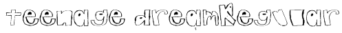 teenage dreamRegular Font