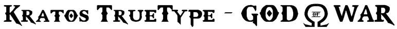 Kratos TrueType - GOD $ WAR Font