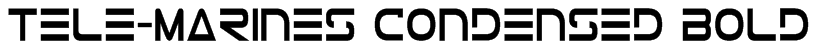 Tele-Marines Condensed Bold Font