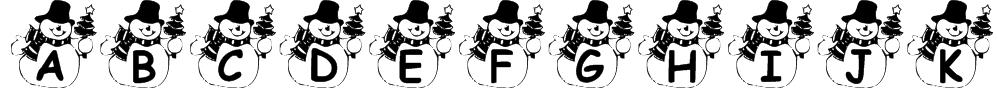 Summer's Snowman Font