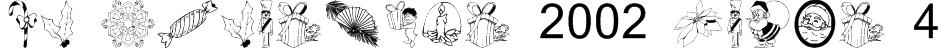 KR Christmas 2002 Dings 4 Font