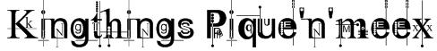 Kingthings Pique'n'meex Font