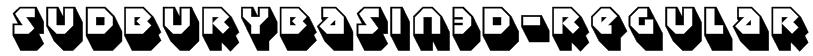 SudburyBasin3D-Regular Font