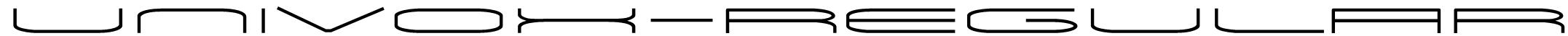 Univox-Regular Font