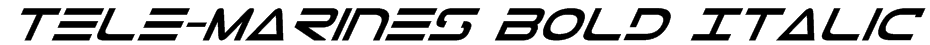 Tele-Marines Bold Italic Font