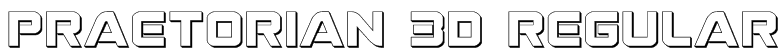 Praetorian 3D Regular Font