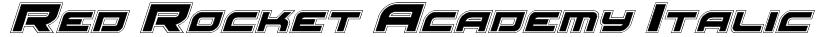 Red Rocket Academy Italic Font