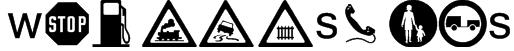 wmroadsigns Font