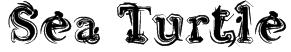 Sea Turtle Font