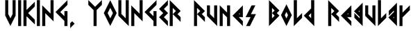 VIKING, YOUNGER Runes Bold Regular Font