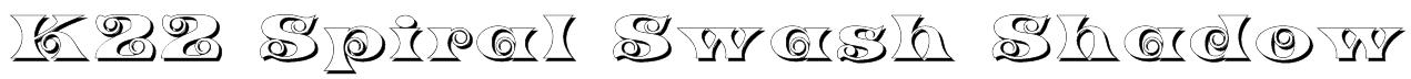 K22 Spiral Swash Shadow Font