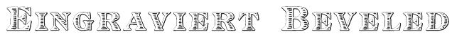 Eingraviert Beveled Font