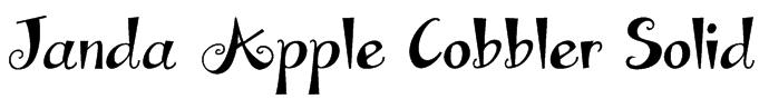 Janda Apple Cobbler Solid Font