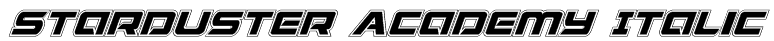 Starduster Academy Italic Font