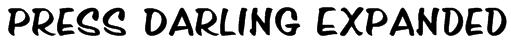 Press Darling Expanded Font