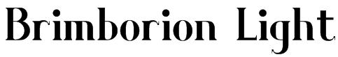 Brimborion Light Font