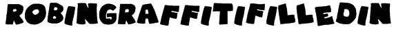 RobinGraffitiFilledin Font