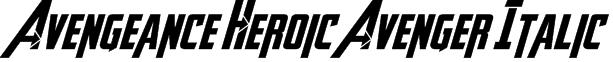 Avengeance Heroic Avenger Italic Font
