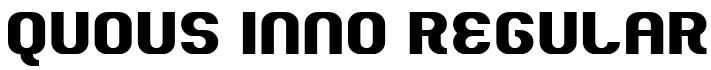 Quous Inno Regular Font