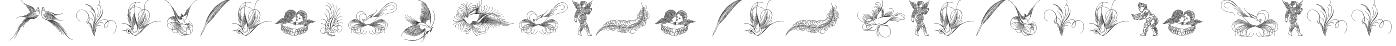 Penmanship Birds and Ornaments Free Font