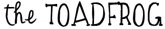 the TOADFROG Font