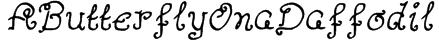 AButterflyOnaDaffodil Font