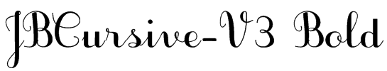 JBCursive-V3 Bold Font