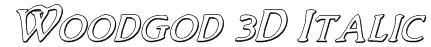 Woodgod 3D Italic Font