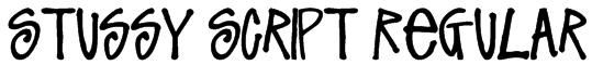 Stussy Script Regular Font