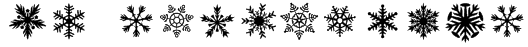 DH Snowflakes Font