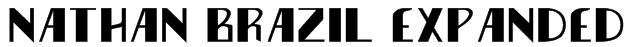 Nathan Brazil Expanded Font