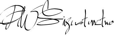 PWSignaturetwo Font