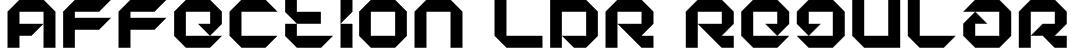 Affection LDR Regular Font