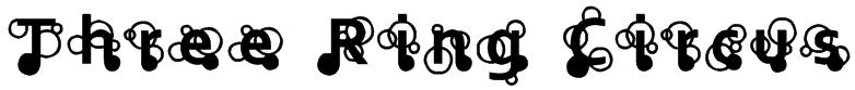 Three Ring Circus Font