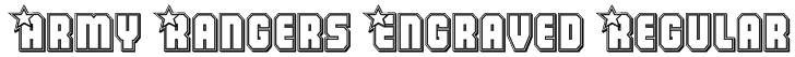 Army Rangers Engraved Regular Font