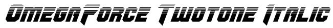 OmegaForce Twotone Italic Font