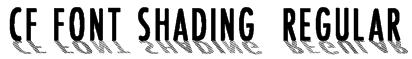 CF Font Shading  Regular Font