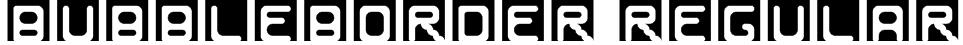 BubbleBorder Regular Font