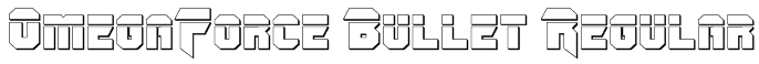 OmegaForce Bullet Regular Font