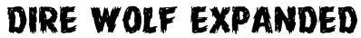 Dire Wolf Expanded Font