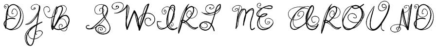 DJB SWIRL ME AROUND Font