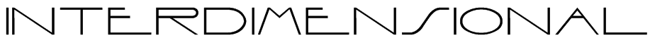 Interdimensional Font