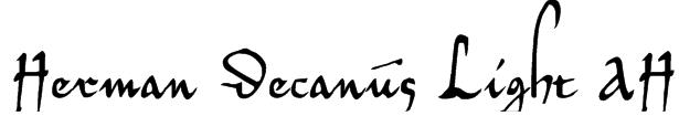 Herman Decanus Light AH Font