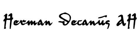 Herman Decanus AH Font
