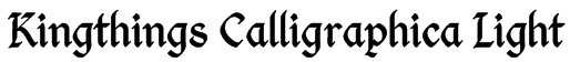 Kingthings Calligraphica Light Font